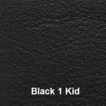 Cowhide Leather Cover Material Colour #1 Black with Kid Embossing