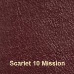 Cowhide Leather Cover Material Colour #10 Scarlet with Mission embossing
